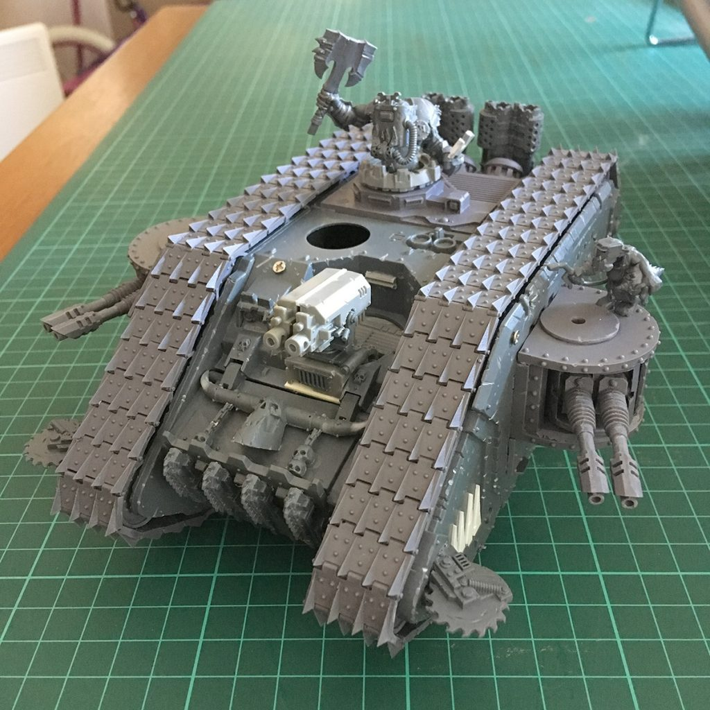 Assembled Land Raider with Sagittarius Conversion Kit tracks