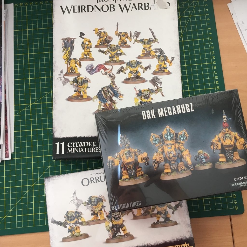 Raw materials for the Ork Custodes army
